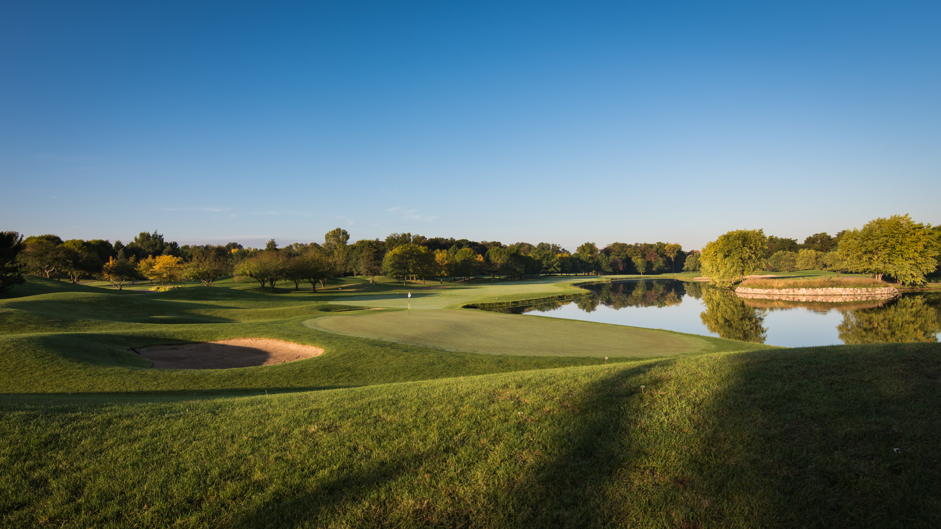 Golf i USA, här Aldeen Golf Club i Rockford, IL.
