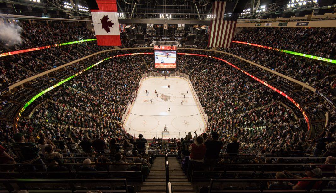 Minnesota Wild ishockey, Xcel Stadium, Minneapolis, Minnesota